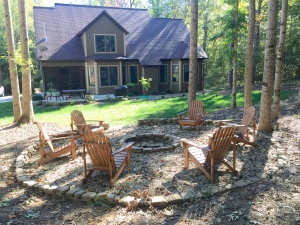 Whether it be a bench, a pergola, or just a small deck space; adding a place to sit and enjoy your woodland garden is a great feature to incorporate in to your space.  Imagine coming home after a long day in the office and being able to retreat and relax outdoors in this quiet, peaceful setting amongst family and friends
