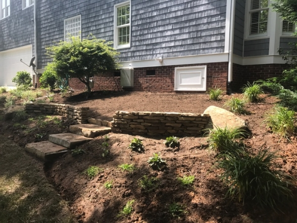Natural stone work landscaping portfolio charlotte nc for Landscaping rocks charlotte nc
