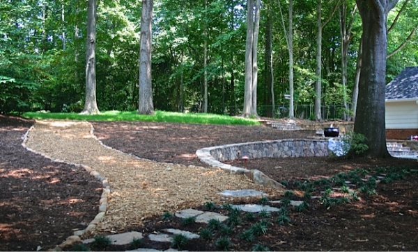 Eco-Friendly Tree Planting Company In Midland NC - Wilson's Natural Landscaping - Woodland_project