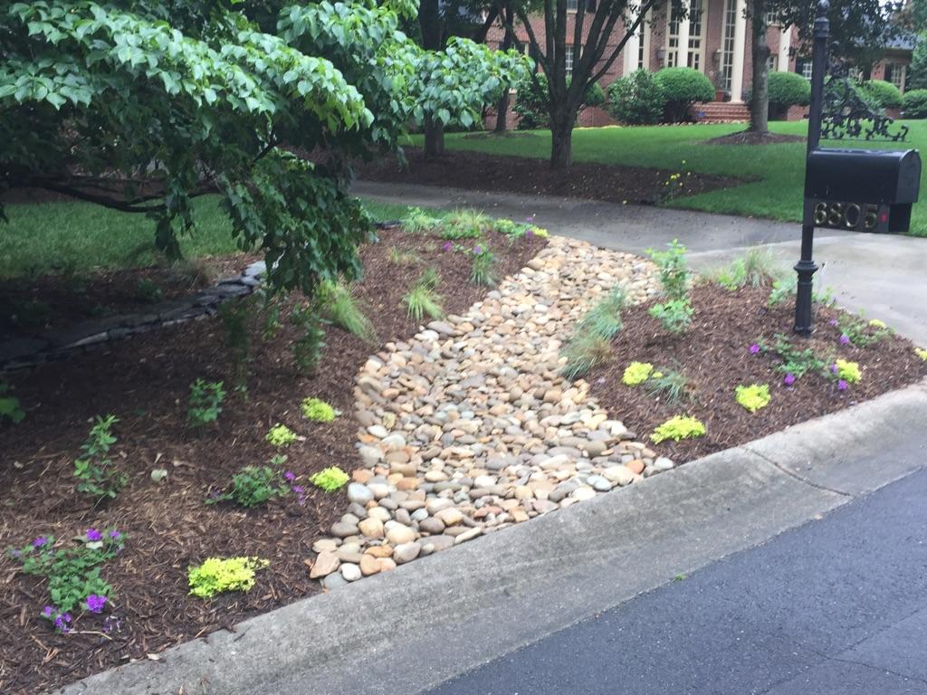 Landscape Drainage Solutions Stanfield NC | Wilson's Natural Landscaping